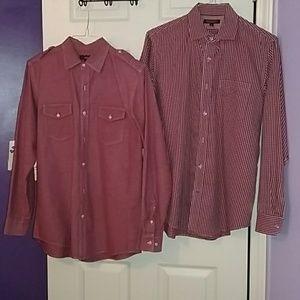 Set of 2 casual mens shirts